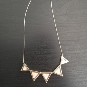 Banana republic triangles necklace